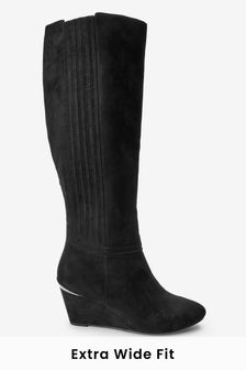 Forever Comfort® Wedge Knee High Boots