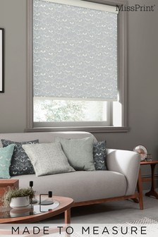 Saplings Cloud Grey Made To Measure Roller Blind by MissPrint