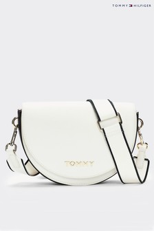 Tommy Hilfiger White Tommy Staple Saddle Bag