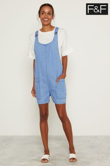 F&F Blue Sleeveless Short Playsuit