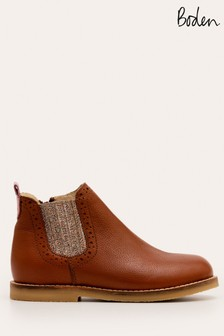 Boden Brown Leather Chelsea Boots