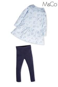 M&Co Unicorn Dress And Leggings