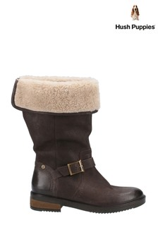 Hush Puppies Brown Bonnie Mid Boots