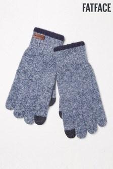FatFace Blue Marl Gloves