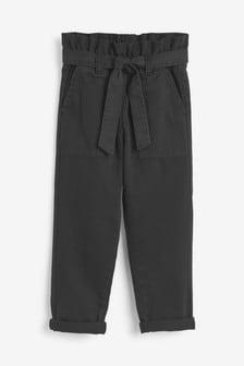 ג'ינס עם קשירה במותן דגםPaperbag (גילאי 3 עד 16)