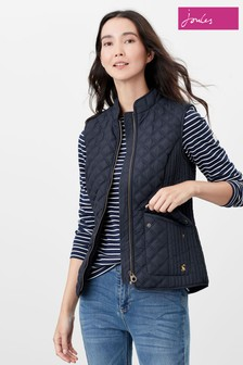 Joules Blue Minx Quilted Gilet