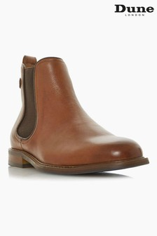 Dune London Character Tan Leather Chelsea Boots