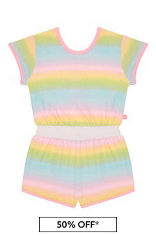 Billie Blush Girls Multicoloured Playsuit