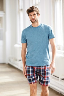 Marl Check Woven Short Set