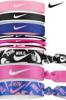 Nike Pink Mixed Ponytail Holders Nine Pack