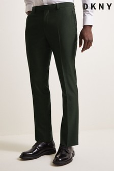 DKNY Green Slim Fit Military Trousers