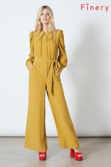 Żółty kombinezon z długim rękawem Finery London Richmond