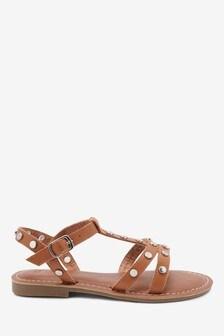 Stud Leather Sandals (Older)