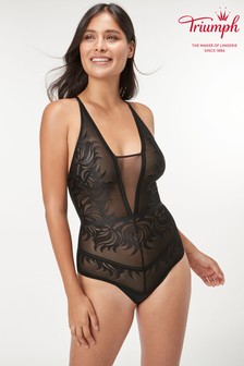 Triumph® Black Palm Spotlight Bodysuit