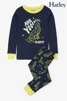 Hatley Blue Wild Constellations Appliqué Pyjamas