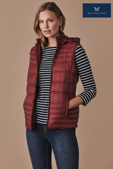 Crew Clothing Red Lightweight Padded Gilet