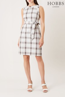 Hobbs Green Amalfi Check Dress