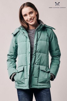 Crew Clothing Green Quilted Jacket