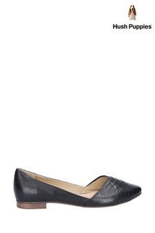 Hush Puppies Black Marley Ballerina Slip-On Shoes