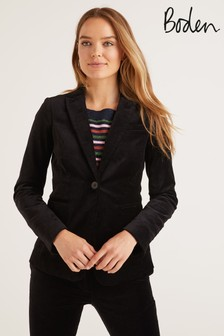 Boden Black Sackville-West Velvet Blazer