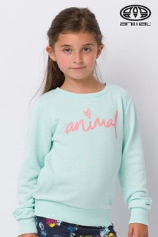 Animal Green Mila Crew Neck Sweatshirt