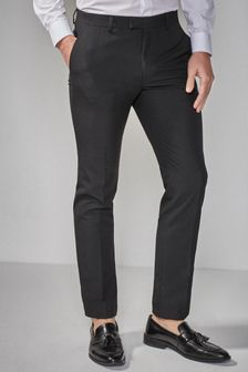 Regular Fit Tuxedo Suit Trousers