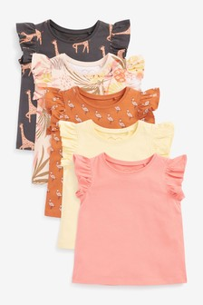 5 Pack Mixed Print Tops (3mths-8yrs)