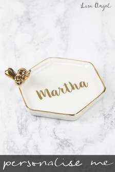 Personalised Bee Trinket Dish by Lisa Angel