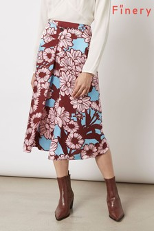Finery London Archie In Freehand Stripe Print Skirt