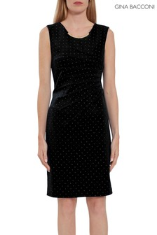 Gina Bacconi Black Itala Dress With Studs