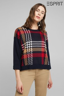 Esprit Blue Check Sweater