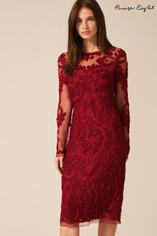 Phase Eight Red Nikita Tapework Dress