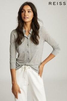 Reiss Nancy Twin Pocket Jersey Shirt