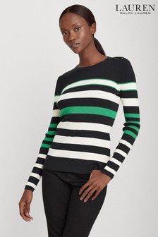 Lauren Ralph Lauren® Black Multi Stripe Adonya Jumper
