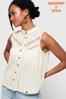 Superdry Lace Mixing Sleeveless Shirt