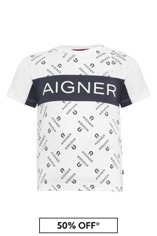 Aigner White Cotton T-Shirt