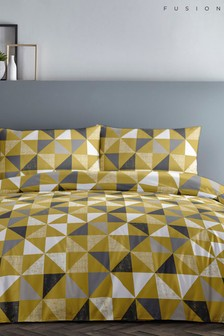 Geo Duvet Cover and Pillowcase Set by Fusion