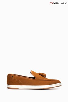 Base London® Tan Pogo Suede Cognac Slip-On Shoes