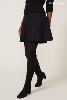 Phase Eight Black Hana Jacquard Knit Skirt