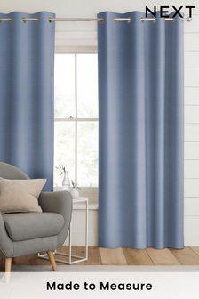 Jasper Sky Blue Made To Measure Curtains