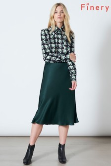 Finery London Green Blake Jewel Skirt
