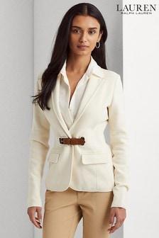 Lauren Ralph Lauren® Cream Jersey Petelsa Blazer