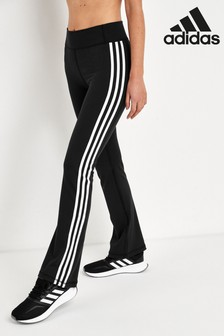 adidas 3 Stripe Boot Cut Joggers