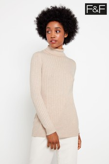 F&F Neutral DT19 Rib Jumper