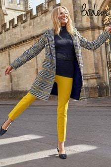 Boden Yellow Hengrave Tweed Coat