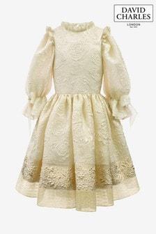 David Charles Ivory Rose Dress