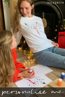 Personalised Draw Your Own Snowman Jumper by Solesmith