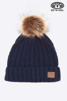 Niebieska czapka w typu beanie w tonie indygo Animal Becki