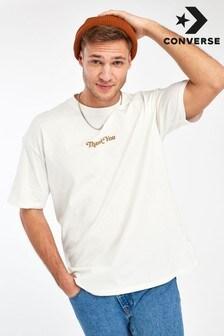 חולצת טי אוברסייז שלConverse בהדפס Renew