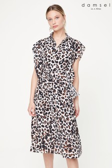 Damsel In A Dress Neutral Trudy Leopard Print Dress
